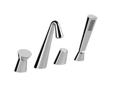 - 4 hole bathtub set with hand shower CONO BATH 45037 - Gessi