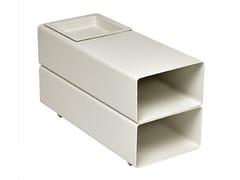 Tavolino rettangolare con vano contenitoreCORAL REEF   Tavolino rettangolare - ROBERTI RATTAN