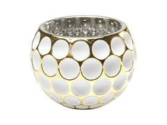 - Stained glass candle holder CORDOBA W&G DOTS - KARE-DESIGN