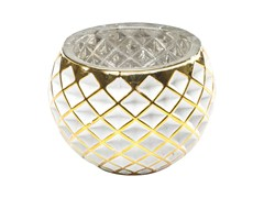 - Stained glass candle holder CORDOBA W&G RAUTE - KARE-DESIGN