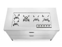 Cucina / piano cottura in acciaio inoxCOTTURA 130 | Piano cottura - ALPES-INOX