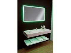 Mobile lavabo sospeso in Corian®COUNTER | Mobile lavabo in Corian® - CARMENTA