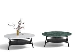 Tavolino basso rotondo in marmoCRADLE | Tavolino - ARFLEX