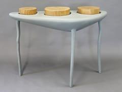 Consolle a mezzaluna in resina e legnoCRATÈRE | Consolle in legno - BINOME