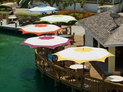 - Round Garden umbrella PLANTATION MAX CRESCENT - TUUCI