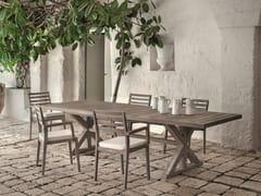 - Rectangular teak garden table CRONOS | Rectangular table - Ethimo