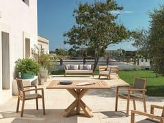 - Square teak garden table CRONOS   Square table - Ethimo