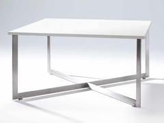 Tavolo quadrato in legno impiallacciatoCROSS - GAMADECOR