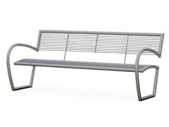 Panchina in acciaio con braccioli con schienaleCRUDELIA   Panchina con braccioli - CITY DESIGN