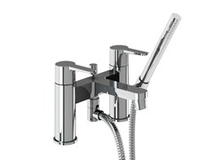 - 2 hole bathtub mixer with hand shower CRYSTAL | Bathtub mixer with hand shower - Polo