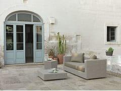 - 3 seater Ethimo EtWick® garden sofa CUBE | Garden sofa - Ethimo