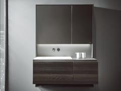 Mobile lavabo sospeso in legnoCUBE   Mobile lavabo con specchio - INBANI