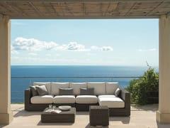 - Sectional Ethimo EtWick® garden sofa CUBE | Sectional sofa - Ethimo