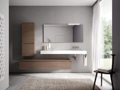 Arredo bagno completo in legno CUBIK   Arredo bagno completo - Idea