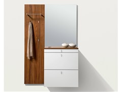 - Wall-mounted wooden hallway unit CUBUS | Wall-mounted hallway unit - TEAM 7 Natürlich Wohnen