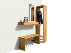 - Sectional solid wood hallway unit CUBUS PURE | Sectional hallway unit - TEAM 7 Natürlich Wohnen