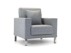 - Upholstered fabric guest chair with armrests CUCCIOLO | Armchair - Domingo Salotti
