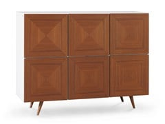 - Lacquered walnut highboard with doors CITY | Highboard - Oliver B.