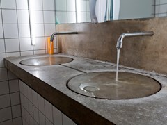 - Double concrete washbasin countertop Concrete washbasin countertop - baqua
