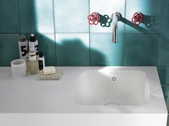 - Corian® washbasin with integrated countertop Corian® SERENITY - DuPont de Nemours Italiana - DuPont ProtectionSolutions