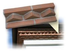 Elemento decorativo isolante per sistema a cappotto termicoCornice sottotetto mattoni faccia vista - WALL SYSTEM