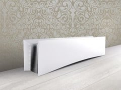 - Floor-standing electric horizontal radiator D LIGNE - FOURSTEEL