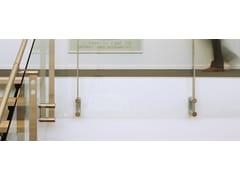 Parapetto con LED per finestre e balconiD LINE BLOK FIXING FULL GLASS - Q-RAILING ITALIA