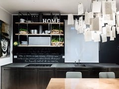 - Basalt and oxidized steel kitchen D90 | Basalt kitchen - TM Italia Cucine