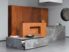 - Kitchen with island D90 | Kitchen without handles - TM Italia Cucine