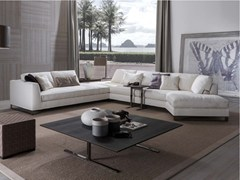 - Sled base sectional fabric sofa DAVIS FREE | Sectional sofa - FRIGERIO POLTRONE E DIVANI