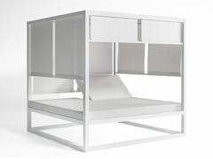 - Double recliner canopy thermo lacquered aluminium garden bed DAYBED ELEVADA | Canopy garden bed - GANDIA BLASCO