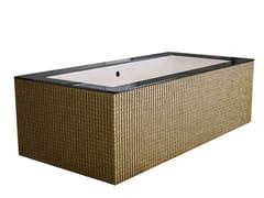 Vasca da bagno centro stanza rettangolareDAYDREAMER - GOLD - SAIKALLYS