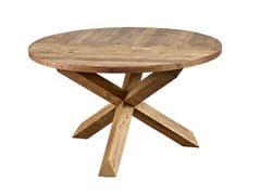 - Round reclaimed wood dining table DB004134 - Dialma Brown