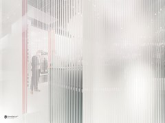 - Decorated glass partition wall DECORFLOU® DESIGN STRIPES - OmniDecor®