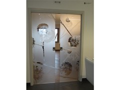- Decorated glass door DECORFLOU® WINDOW - OmniDecor®