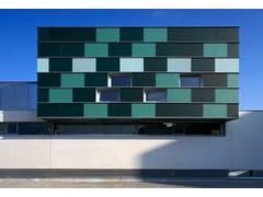 Facciata strutturale vetrata in vetro coloratoDECORGEM® - OMNIDECOR®