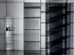 - Freestanding modular glass bookcase DELPHI H. 190 - SOVET ITALIA