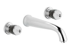 - 3 hole wall-mounted washbasin tap DELUXE | Wall-mounted washbasin tap - NEWFORM
