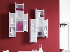- Floating MDF bookcase DEMIE | MDF bookcase - Ozzio Italia