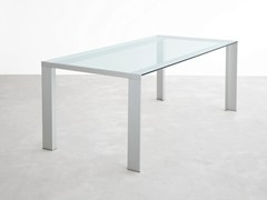 - Rectangular glass table DENEB | Glass table - STUA