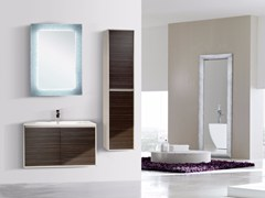 - Wall-mounted vanity unit with doors with mirror DIADEMA CM03DD - LA BUSSOLA