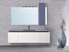- Lacquered wall-mounted vanity unit with drawers DIADEMA CM05DD - LA BUSSOLA