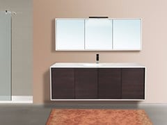 - Wall-mounted vanity unit with mirror DIADEMA CM06DD - LA BUSSOLA