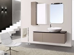 - Lacquered wall-mounted vanity unit with mirror DIADEMA CM07DD - LA BUSSOLA