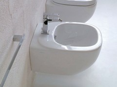 - Wall-hung ceramic bidet DIAL | Bidet with overflow - Hidra Ceramica