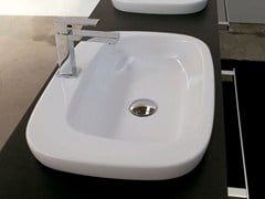 - Rectangular ceramic washbasin DIAL | Inset washbasin - Hidra Ceramica