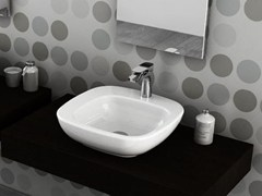 - Countertop square ceramic washbasin DIAL | Countertop washbasin - Hidra Ceramica
