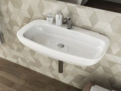 - Wall-mounted ceramic washbasin DIAL | Rectangular washbasin - Hidra Ceramica