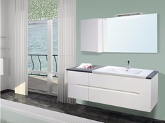 - Lacquered wall-mounted vanity unit with mirror DIAMANTE CM02DI - LA BUSSOLA