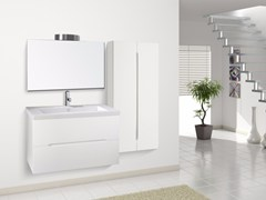 - Lacquered wall-mounted vanity unit with drawers DIAMANTE CM06DI - LA BUSSOLA